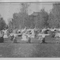 Women exercising with hand weights, State Normal School campus