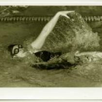 Female swimmer, University of Northern Colorado, 1990