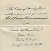 1893 commencement invitation