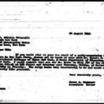 1946-08-26 Letter from James A. Michener to Dr. William Vitarelli