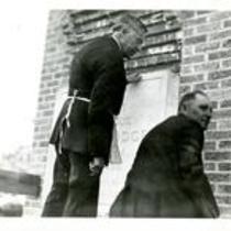 Gunter Hall, cornerstone dedication ceremony