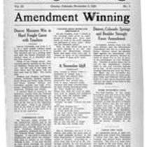 Volume 3, Number 3: November 3, 1920