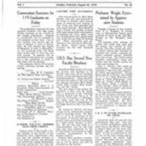 Volume 1, Number 23: August 22, 1919