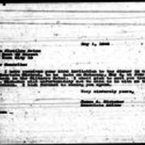 1946-05-01 Letter from James A. Michener to Clotilde Arias
