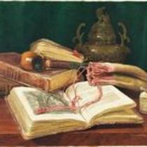 Still Life with Books and Pipe by Claude Raguet Hirst