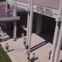 McKee Hall, exterior patio area