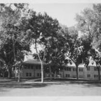 Student Union exterior, northeast entrance, 1939