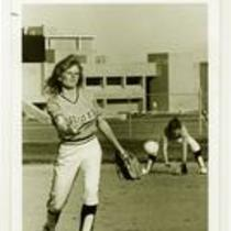 Pitcher, University of Northern Colorado women's softball team, 1981.