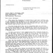 1945-10-08 - Letter from George Brett, Jr. to Lieutenant James A. Michener