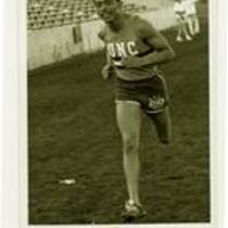 Unidentified runner, University of Northern Colorado track and field team, ca. 1980s.