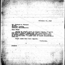 1946-02-20 Letter from James A. Michener to Richard S. Pieters