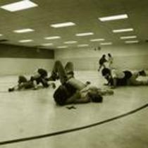 Wrestling practice, ca. 1990s.