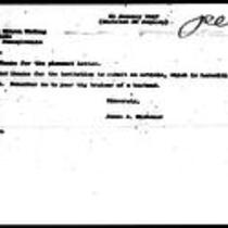 1947-01-21 Letter from James A. Michener to Es Wilson Widing