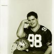 University of Northern Colorado football player, James Allen, 1993.
