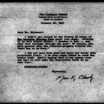 1947-01-22 Letter from Mael K. Clark to James A. Michener