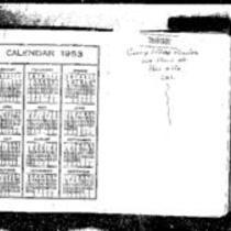 George Willard Frasier diaries, 1953