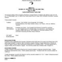 2009-07-15 - Board of Trustees special meeting minutes