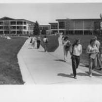 University Center exterior, south west side, ca. 1980s