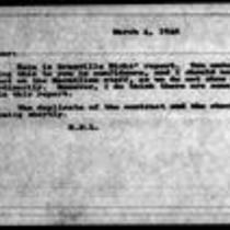 1946-03-04 - Note from H.S.L (Harold S. Latham) to James A. Michener