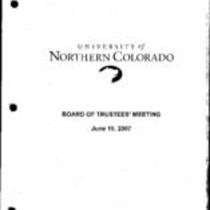 2007-06-15 - Board of Trustees meeting agenda, minutes, and supporting documents
