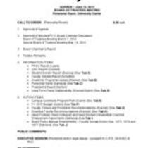 2014-06-13 - Board of Trustees meeting agenda, minutes and supporting documents