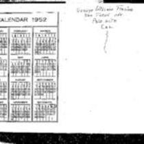 George Willard Frasier diaries, 1952