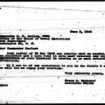 1946-06-03 Letter from James A. Michener to Commander W. R. Harlow