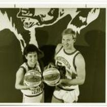 Jenny Ederly and Mike Higgins, University of Northern Colorado basketball, 1989.