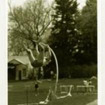 Mike Thompson, University of Northern Colorado pole vaulter, ca. 1989