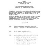 1989-11-12 - Board of Trustees meeting agenda