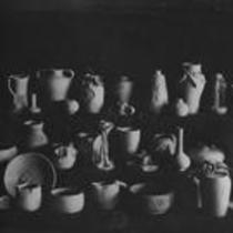 Pottery display, State Normal School campus