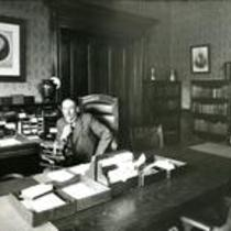 Zachariah Xenophon Snyder in his office