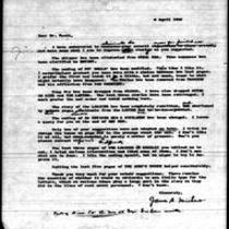 1946-04-06 Letter from James A. Michener to Mr. Scott