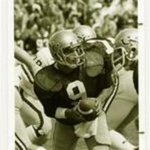 Quarterback, University of Northern Colorado football team, ca. 1990s.