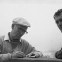 James A. Michener and John Fulton