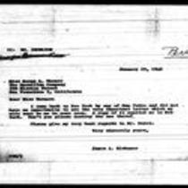 1946-01-25 Letter from James A. Michener to Miss Norma L. Warner