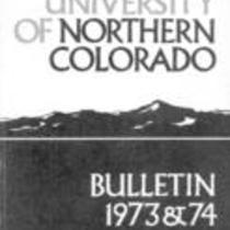 University of Northern Colorado bulletin, series 73, number 2: 1973-74 undergraduate catalog