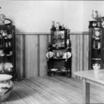 Displayed pottery objects, State Normal School