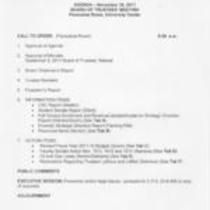 2011-11-18 - Board of Trustees meeting agenda, minutes, and supporting documents