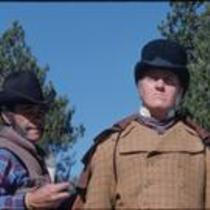 Centennial actor and John Kings, Estes Park, Colorado, 1978
